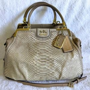 Coach Madison Pinnacle Pearl Python Lilly Satchel